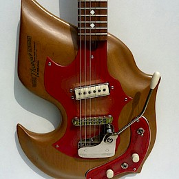 Harvey Thomas Lyer naturel Custom guitar 6