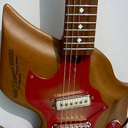 Harvey Thomas Lyer naturel Custom guitar 5