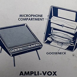 70s Ampli-Vox batterie operated guitar amplifier made in Italy 4