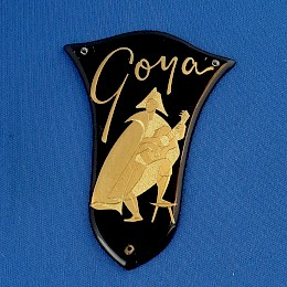 60/70s vintage Italian Goya bass - guitar name tag