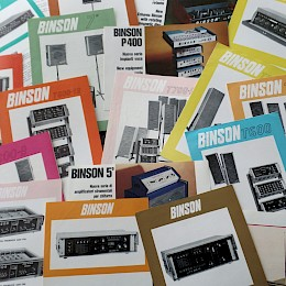 1960s Binson product range folders flyers 1