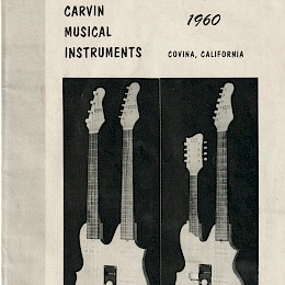 Vintage Carvin musical instruments catalog 1960 USA 1