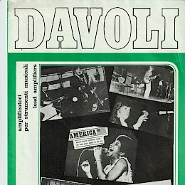 1974 Davoli Lead amplifier folded brochure 1