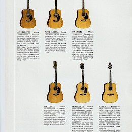 1980s Eko amplifier & guitar series product flyers catalog 27