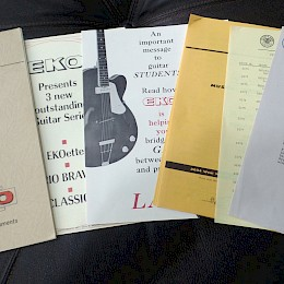 Vintage 1968 Eko guitar & bass catalogs - brochure - flyer - signed letter 1