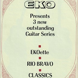 Vintage 1968 Eko guitar & bass catalogs - brochure - flyer - signed letter 56