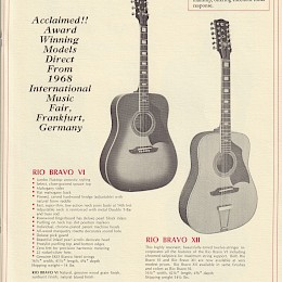 Vintage 1968 Eko guitar & bass catalogs - brochure - flyer - signed letter 60