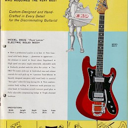 1960s Eko guitar & bass catalog made in Italy 11