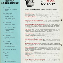 1960s Eko guitar & bass catalog made in Italy 18