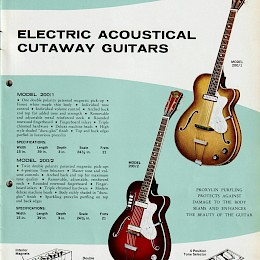 1960s Eko guitar & bass catalog made in Italy 7