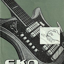 1963 Eko guitar & bass brochure made in Italy 1