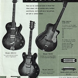 1963 Eko guitar & bass brochure made in Italy 3