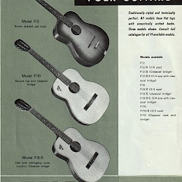 1963 Eko guitar & bass brochure made in Italy 6