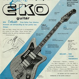 1960s LoDuca Eko guitar & bass product flyer made in Italy 1