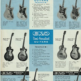 1960s LoDuca Eko guitar & bass product flyer made in Italy 2