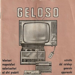 1963 64 Geloso radio's amps microphone product catalog Italian made in Italy 1