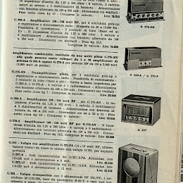 1963 64 Geloso radio's amps microphone product catalog Italian made in Italy 6