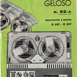 1964 Geloso technical bulletin catalog made in Italy 1