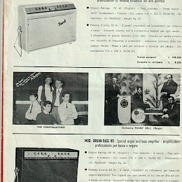 1965 Krundaal amps guitars basses microphes Wandre Tigre Etrurian product catalog 11