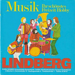1976 Lindberg music instrument 'versandhaus' catalog accordeons guitars amps and more 1
