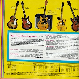 1976 Lindberg music instrument 'versandhaus' catalog accordeons guitars amps and more 24
