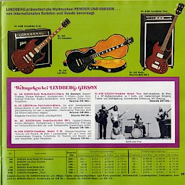 1976 Lindberg music instrument 'versandhaus' catalog accordeons guitars amps and more 29