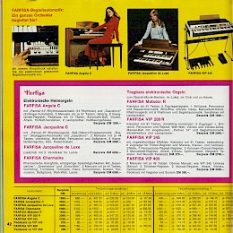 1976 Lindberg music instrument 'versandhaus' catalog accordeons guitars amps and more 42