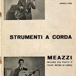 1962 Meazzi full range bizarre guitar bass amps product catalog 1