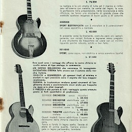 1962 Meazzi full range bizarre guitar bass amps product catalog 19