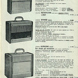 1962 Meazzi full range bizarre guitar bass amps product catalog 28