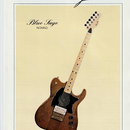 1985 Melody full line guitar bass folded brochure 11