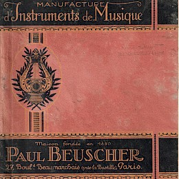 1940 - 50s Paul Beuscher full line musical instruments catalog 1