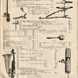 1940 - 50s Paul Beuscher full line musical instruments catalog 5