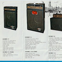 1960s Teisco Checkmate amp brochure catalog page 2