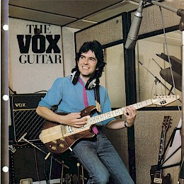 1980s Vox guitars folded brochure 1