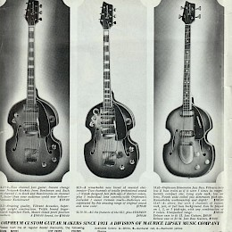 Orpheum (Welson) guitar magazine add for Maurice Lipsky  60s 1