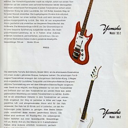 1960s Yamaha guitar, bass & amp brochure 3