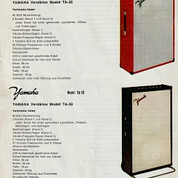 1960s Yamaha guitar, bass & amp brochure 4