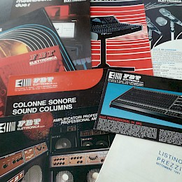 1981 FBT product range folded brochures flyers  mixers amplifiers microphones 1