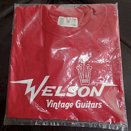 Welson vintage guitar T-shirt Red size-XL