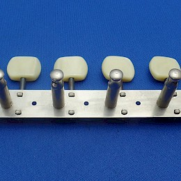 1960s New Old Stock '6 on a strip' 6 inline Hopf Saturn 63 Allround Jupiter Special Twisty guitar tuners2