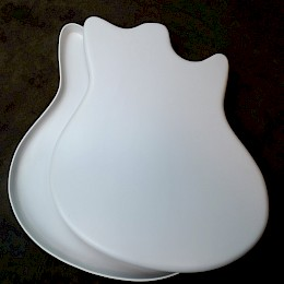 1960s Hopf Jupiter 63 Moulded Front & back plastic body plates made in Germany New Old Stock1