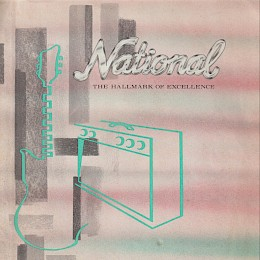 1964 National Electric guitars & amplifiers brochure, made in USA1