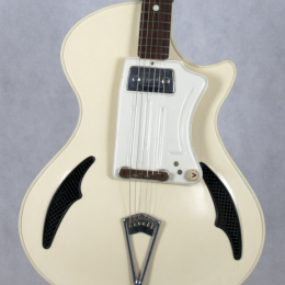 1961-62 Wandre Teenager guitar - white, made in Italy 11