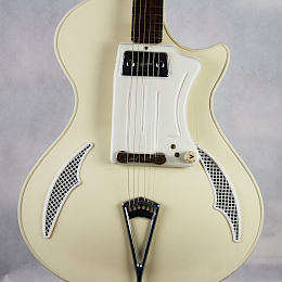 1961-62 Wandre Teenager guitar - white, made in Italy 2