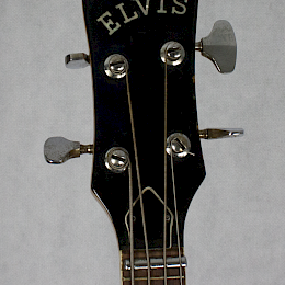 Vintage 1970s Mosrite Avenger 'ELVIS' bass guitar by Firstman, made in Japan 7