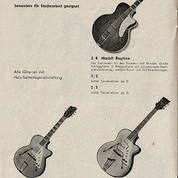 1970s Egmond made in Holland guitar catalog for German market!6