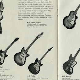 1970s Egmond made in Holland guitar catalog for German market!7