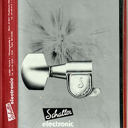 1980 Schaller Electronic Catalog made in Germany 1