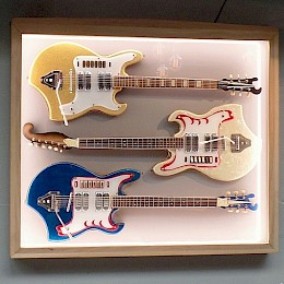 3 different versions of 60s Melody guitars including display 1
